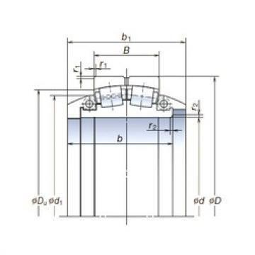 1 320 mm x 1 850 mm x 530 mm  NSK 1320SLPT1851 Rodamientos De Rodillos Esféricos