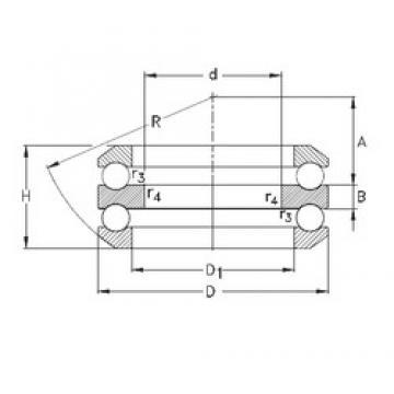 30 mm x 68 mm x 10 mm  NKE 54307 Cojinetes De Bola