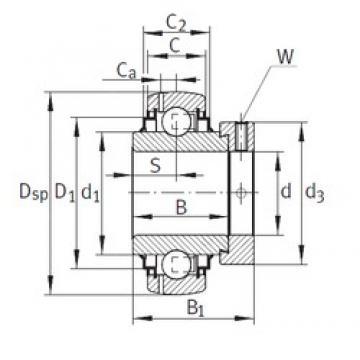 65 mm x 125 mm x 48,5 mm  INA GE65-214-KRR-B-FA164 Cojinetes de bolas profundas