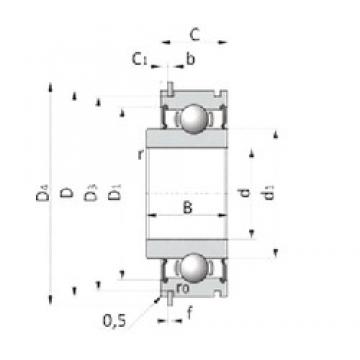 27 mm x 65 mm x 19 mm  INA 712156110 Cojinetes de bolas profundas