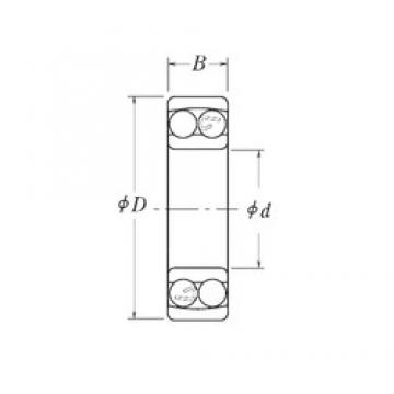 22,225 mm x 50,8 mm x 14,2875 mm  RHP NLJ7/8 Rodamientos De Bolas Autoalineables