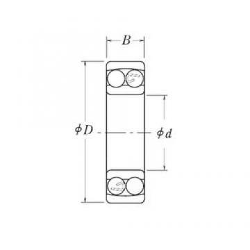 22,225 mm x 57,15 mm x 17,4625 mm  RHP NMJ7/8 Rodamientos De Bolas Autoalineables