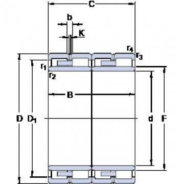 420 mm x 580 mm x 320 mm  SKF 313555 B/VJ202 Rodamientos De Rodillos