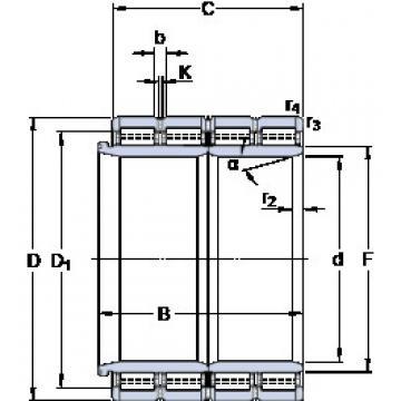 600 mm x 870 mm x 578 mm  SKF BC4B 322497/HA4 Rodamientos De Rodillos