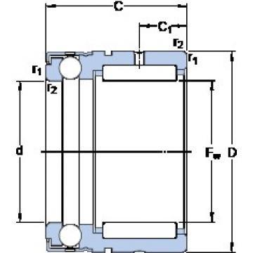 SKF NX 12 Rodamientos De Rodillos